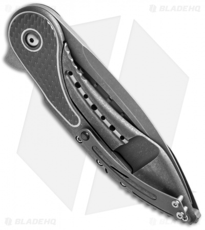 Todd Begg Glimpse 5.5 Frame Lock Knife Gray Ti/Scalloped (SW Fluted)