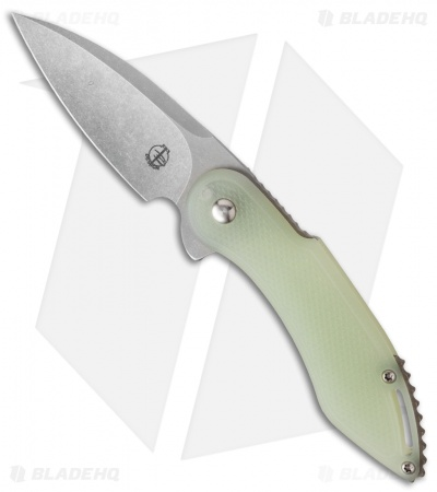 "Todd Begg Mini Glimpse Friction Folder Knife Jade G-10 Diamond (3"" SW)"