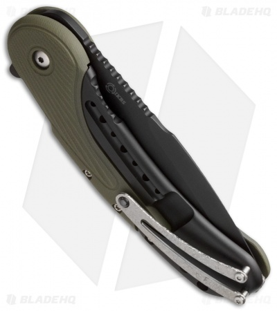 "Todd Begg Field Grade Bodega Flipper OD Green G10 (3.75"" Black Compound) Ceramic"