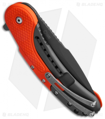 "Todd Begg Field Grade Bodega Flipper Knife Orange G-10 (3.75"" Cerakote)"