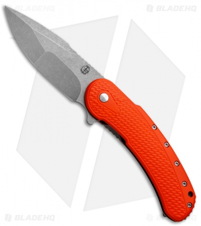 "Todd Begg Field Grade Bodega Flipper Knife Orange G-10 (3.75"" SW Compound)"