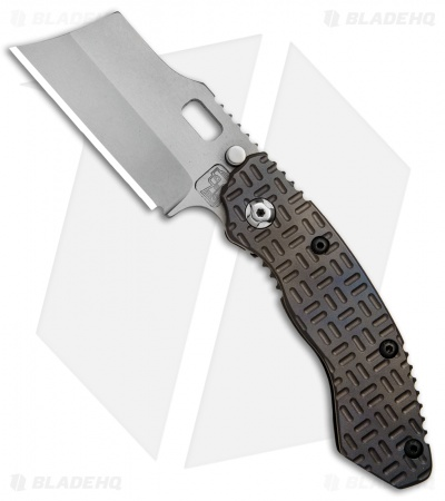 "Trouble Blades Custom Lil Debt Collector Cleaver Knife Tron Ti (3"" BB SpecWear)"