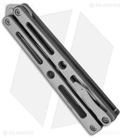 "VMX Vallotton/Maverick Balisong Butterfly Knife ""Tuxedo"" Ti (4.25"" Satin)"