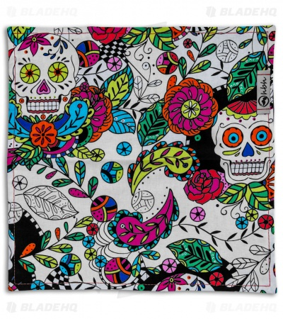 "Hanks by Hank 10"" x 10"" Handkerchief - Cinco Skulls"
