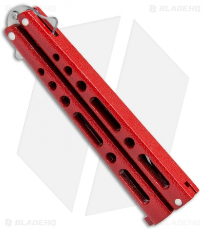 "Benchmark Red Butterfly Knife (4.125"" Satin) BM009"