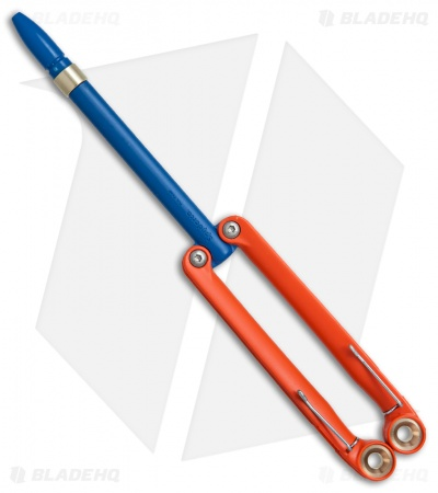 BaliYo by Spyderco Butterfly Pen Fisher Space Pen (Orange/Blue) USA Made