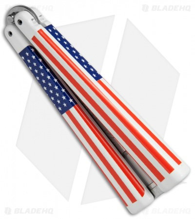 BB Barfly Bottle Opener Butterfly Trainer (USA Flag)