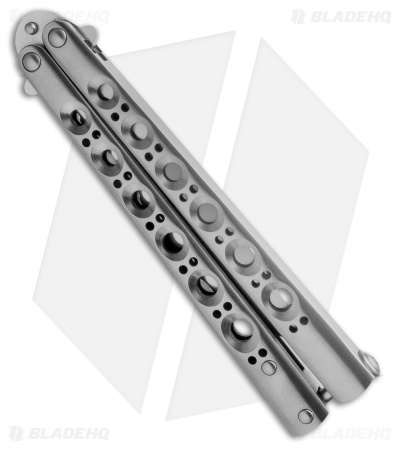 Benchmade 42S Bali-Song Titanium Butterfly Knife (Serrated) Spring Latch