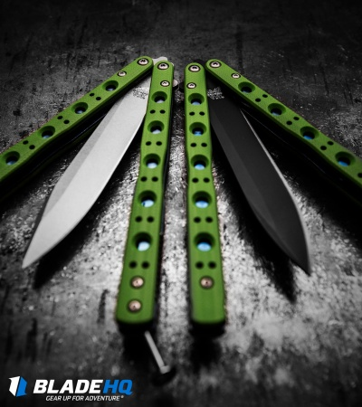 "Benchmade 51 Balisong Morpho Butterfly Knife Green G-10 (4.25"" Black) 51BK-1601"