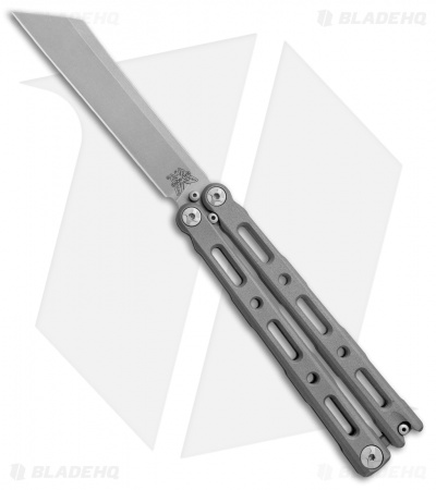 "Benchmade 87 Ti Bali-Song Butterfly Knife Titanium (4.5"" Satin)"