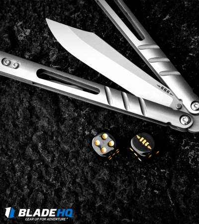 "BRS Alpha Beast Infinity Balisong Butterfly Knife Titanium (4.5"" Stonewash)"