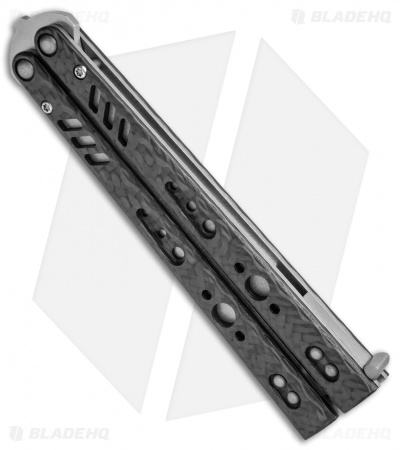 "BRS Replicant Balisong Butterfly Knife Carbon Fiber (4.5"" Stonewash)"