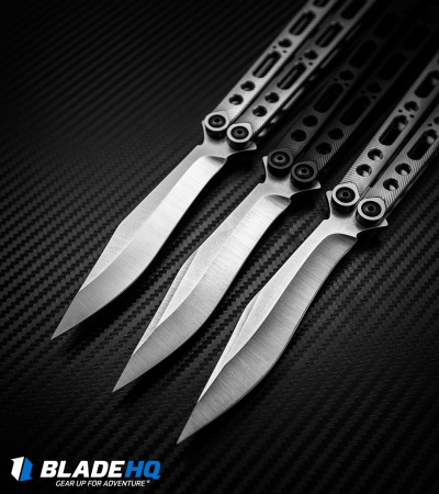 "Geof Dumas Rotten EX10 Balisong Butterfly Knife Titanium w/Swedge (4.25"" Satin)"