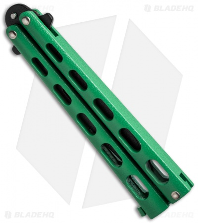 "Remington Drop Point Butterfly Balisong Knife Green (4"" Black) R39"