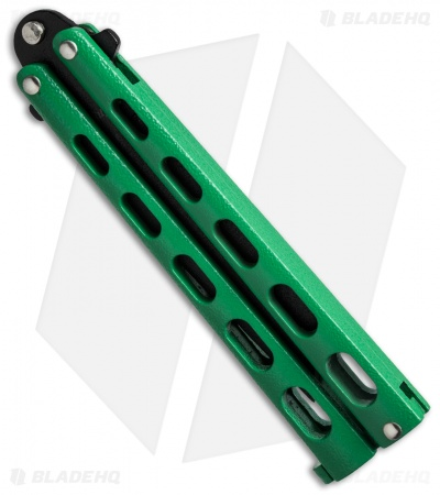 "Remington Tanto Butterfly Balisong Knife Green (4"" Black) R39"