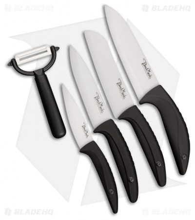 Benchmark Kitchen 5-Piece Black Ceramic Knife Set