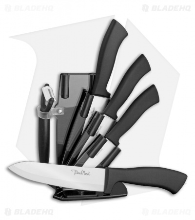 Benchmark Kitchen 6-Piece Black Ceramic Knife Set
