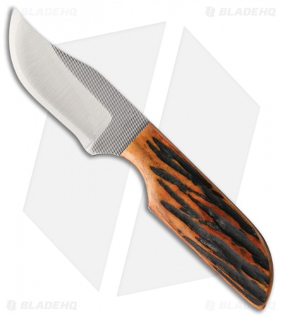 "Anza TW-AJB Fixed Blade Knife Amber Jigged Bone (2.375"" Satin)"