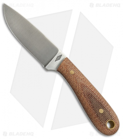 "Battle Horse Knives Frontier First Hunting Knife Natural Micarta (2.6"" Satin)"
