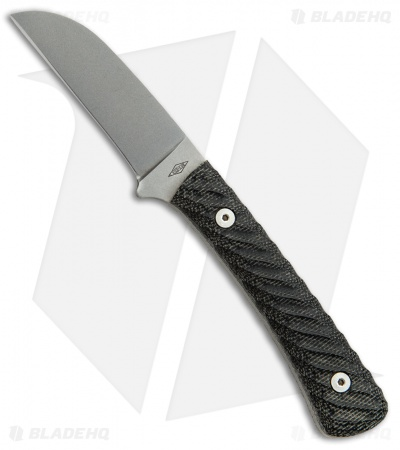 "Battle Horse Knives Platypus Fixed Blade Black Micarta (2.75"" Satin)"