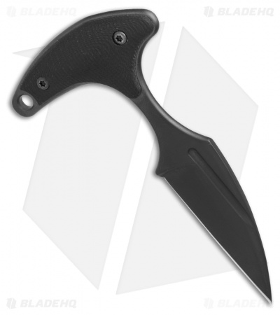 "Bastinelli Creations L'Innocent Push Dagger Knife Black G-10 (1.75"" Black PVD)"