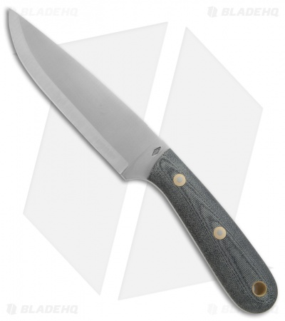 "Battle Horse Knives Highlander Scandi Knife Black Micarta (5.5"" Satin) BHK"