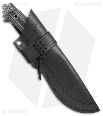 "Black Dragon Forge D3 Fixed Blade Knife Black/Gray G-10 (5.1"" Satin)"