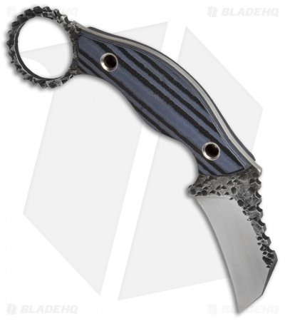 "Black Dragon Forge Karambit Fixed Blade Knife Blue/Black G-10 (2.625"" Two-Tone)"