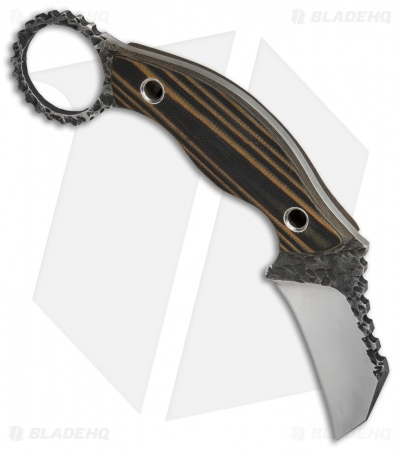 "Black Dragon Forge Karambit Fixed Blade Knife Brown/Black G-10 (2.625"" Two-Tone)"