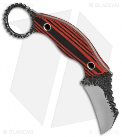 "Black Dragon Forge Karambit Fixed Blade Knife Red/Black G-10 (2.625"" Two-Tone)"