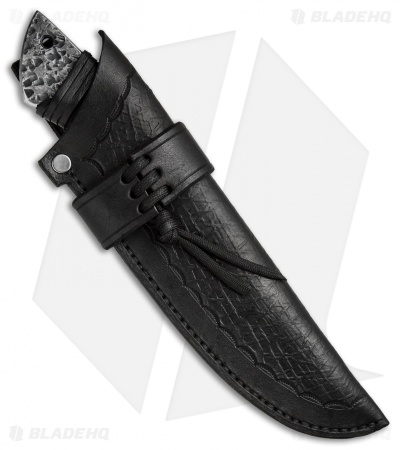 "Black Dragon Forge Primal Hunter Fixed Blade Knife Leather Wrap (4.375"" Satin)"