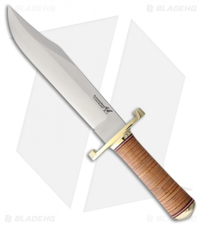 "BlackJack Classic Model 129 Bowie Fixed Blade Tapered Leather (9.25"" Satin)"