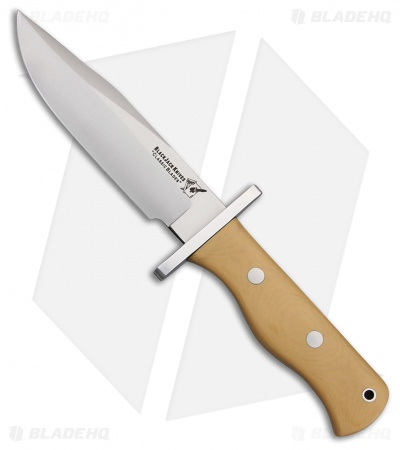"BlackJack Knives Model 13 Halo Attack Knife Antique Ivory Micarta (5.5"" Satin)"
