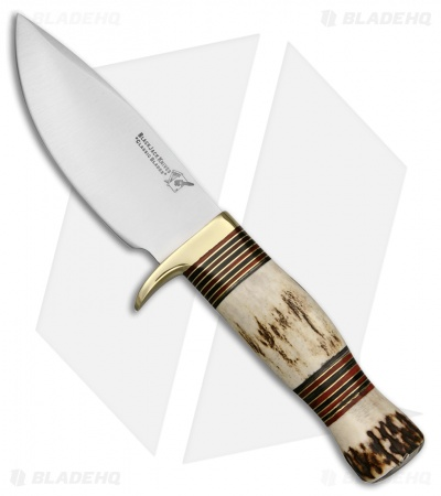 "Blackjack Knives Zachariah Hunter Fixed Blade Knife Stag (4.75"" Satin)"
