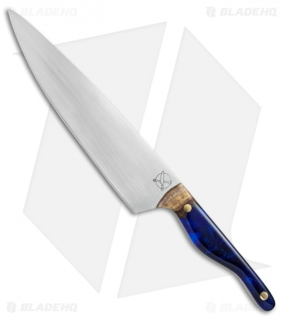 "Blue Collar Blades Mule Chef Knife Hawaiian KoaWood/Blue Resin (8.1"" Satin)"