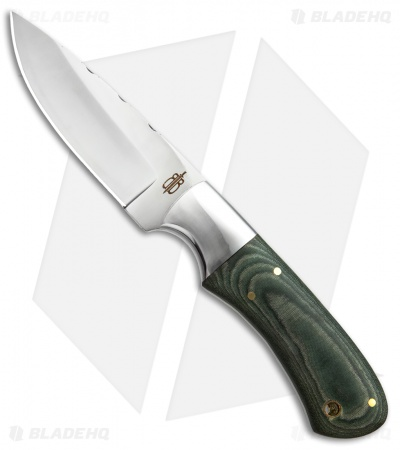 "Buck N Bear Army Hunter Fixed Blade Green G-10 (4.5"" Satin)"