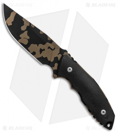 "Burnley Knives BRNLY Huck Fixed Blade Knife Black G-10 (4.5"" Bronze Camo)"