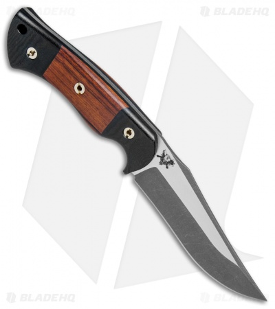 "Dark Timber Knives 1911 Elite Desert Ironwood/Blk Micarta (4.9"" 2-Tone Acid)"