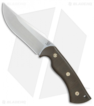 "Dark Timber Knives 1911 Elite Fixed Blade Green Micarta (4.9"" Stonewash)"