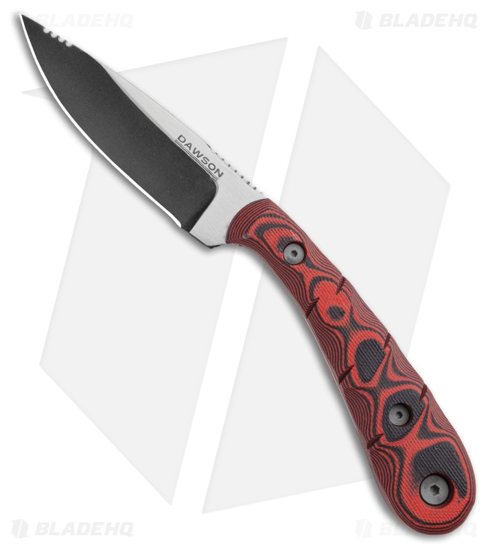 "Dawson Knives Serengeti Fixed Blade Knife Red/Black G-10 (3.25"" Specter)"