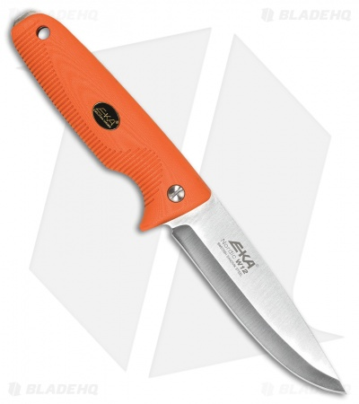 "EKA Nordic W12 Fixed Blade Knife Orange G-10 (4.7"" Satin Sandvik 12C27) 734302"