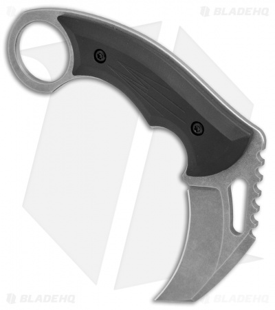 "HavocWorks Small Karambit Fixed Blade Knife Black G-10 (2.5"" Stonewashed)"
