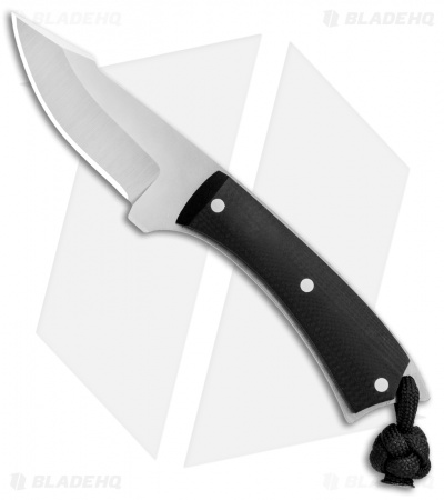 "LCKT PocketPoon Mini EDC Fixed Blade Black G-10 (2.25"" Satin)"