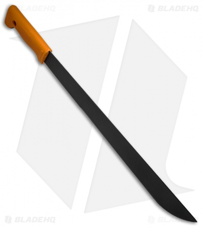 "Okapi Slim Profile Machete Fixed Blade Knife Orange Polymer (15.5"" Black)"