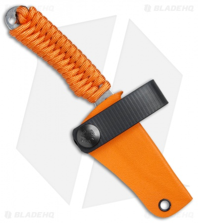 "Rainier Knives Fastpak Fixed Blade Knife Orange Paracord (2.8"" Stonewash)"