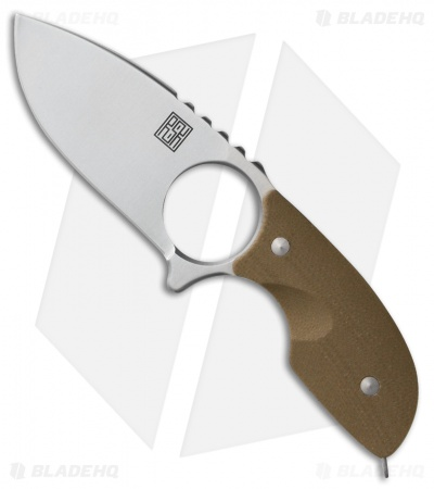 "Real Steel Mini 127 Fixed Blade Neck Knife Coyote Brown G-10 (2.75"" Satin)"