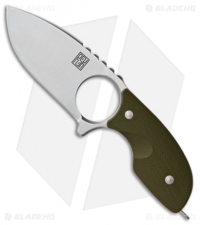 "Real Steel Mini 127 Fixed Blade Neck Knife Green G-10 (2.75"" Satin)"