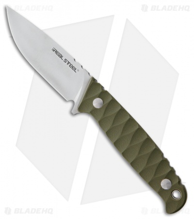 "Real Steel Observer Fixed Blade Knife Green G-10 (3.5"" Satin)"