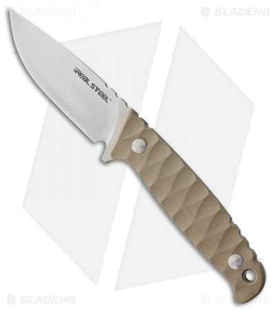 "Real Steel Observer Fixed Blade Knife Coyote Tan G-10 (3.5"" Satin)"