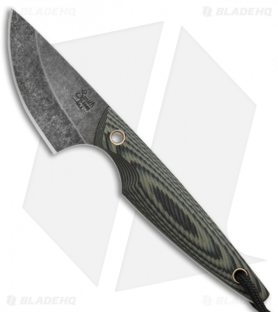 "Smith & Sons Shrew Fixed Blade Knife Camo G-10 (2"" Black Stonewash)"